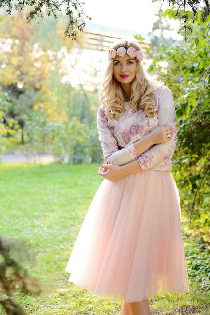 Фатиновая юбка со свитшотом