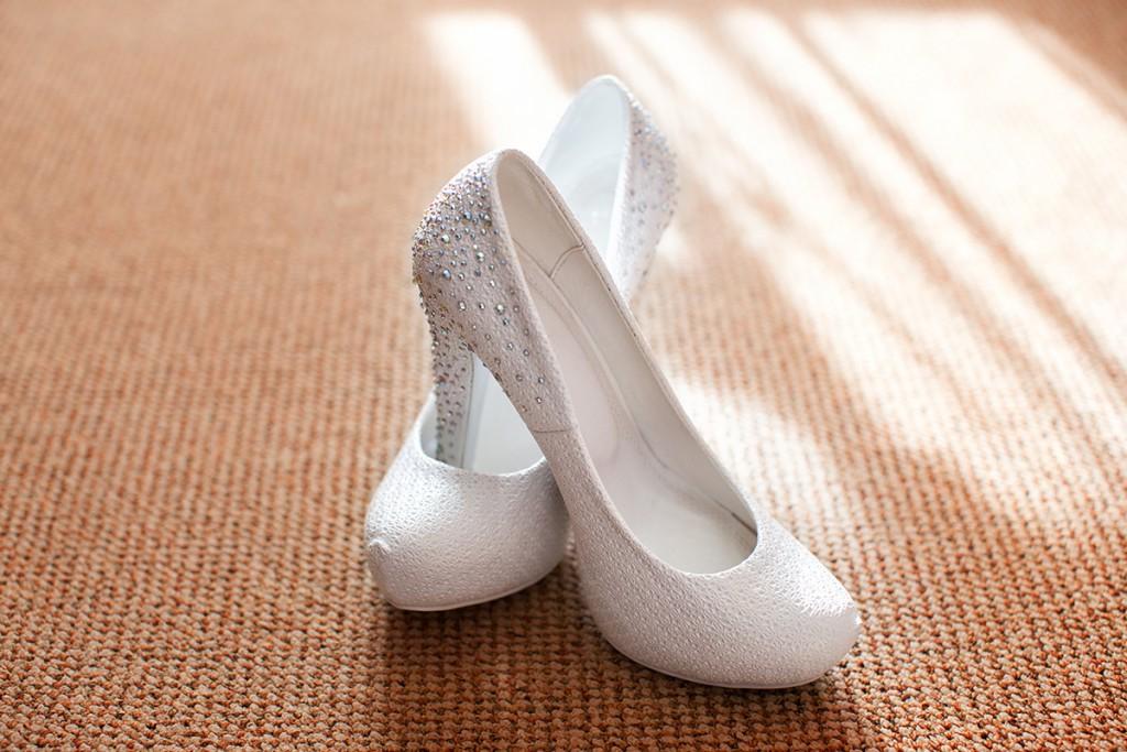 Свадебные туфли из кожи