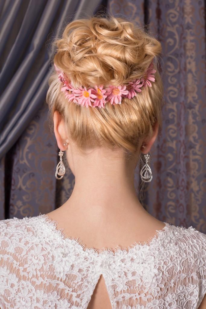 Шпильки с цветами для украшения свадебной прически