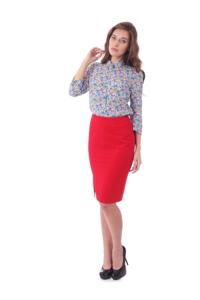 Блуза с юбкой карандаш