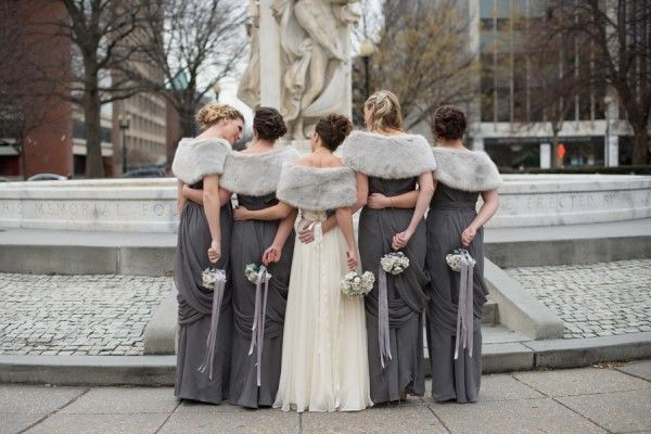 Зимний образ подружек невесты