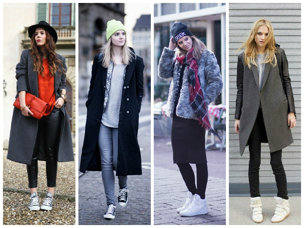 Модные кроссовки с брюками