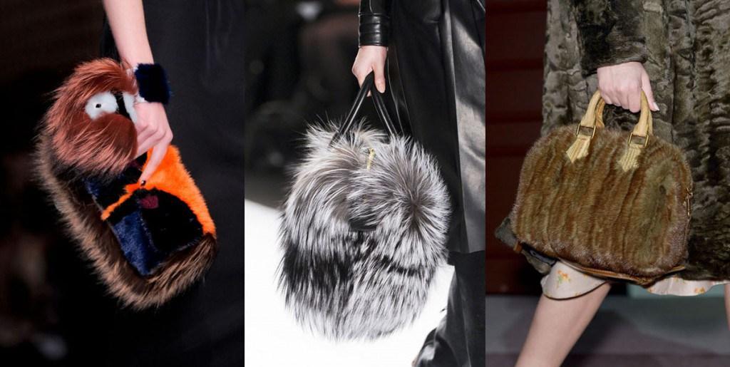 Модные сумки из меха