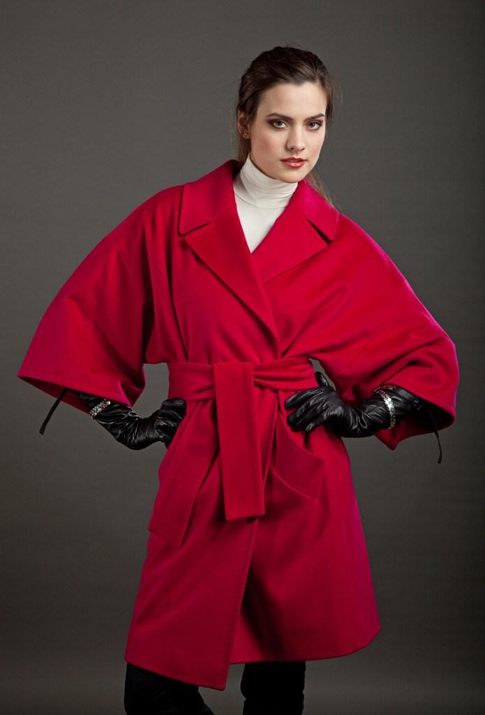 Красное пальто-кимоно