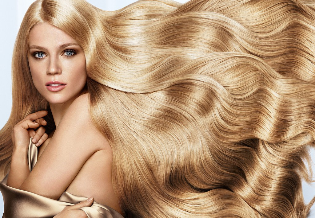 Шикарные длинные волосы после маски для волос