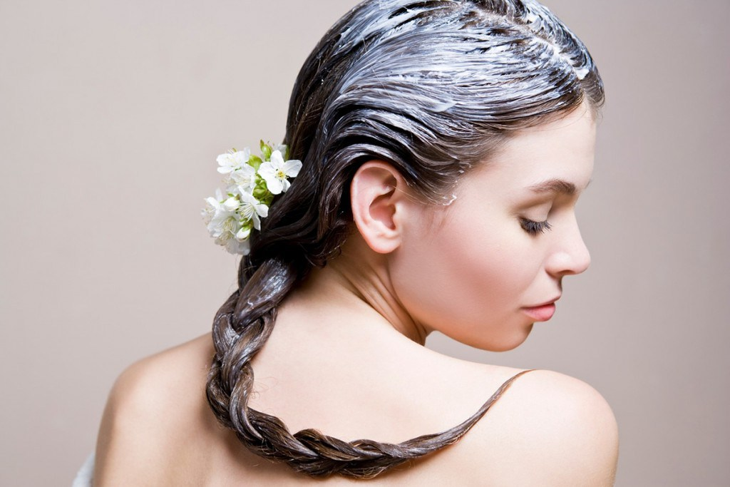 Нанесенная маска для волос