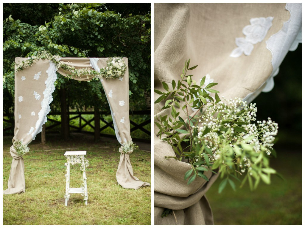 Эко стиль на свадьбе