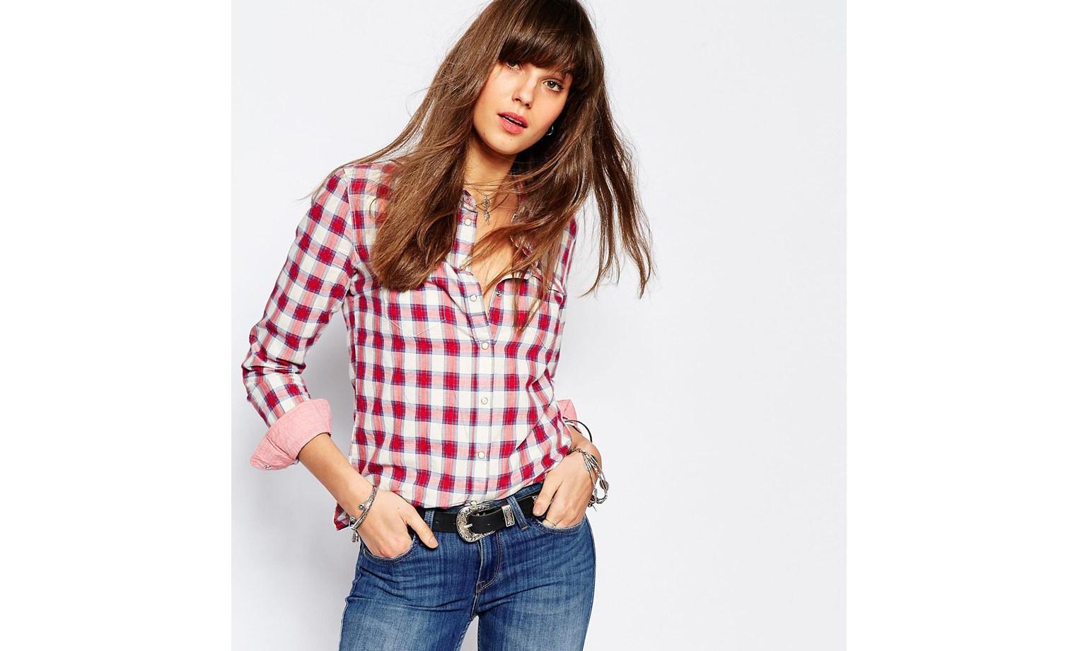 С чем носить клетчатую рубашку (55 фото): длинная, удлиненная, синяя рубашка в клетку женская, с чем она эффектно сочетается