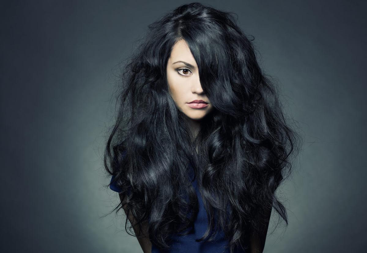 Длинные картинки темные волосы
