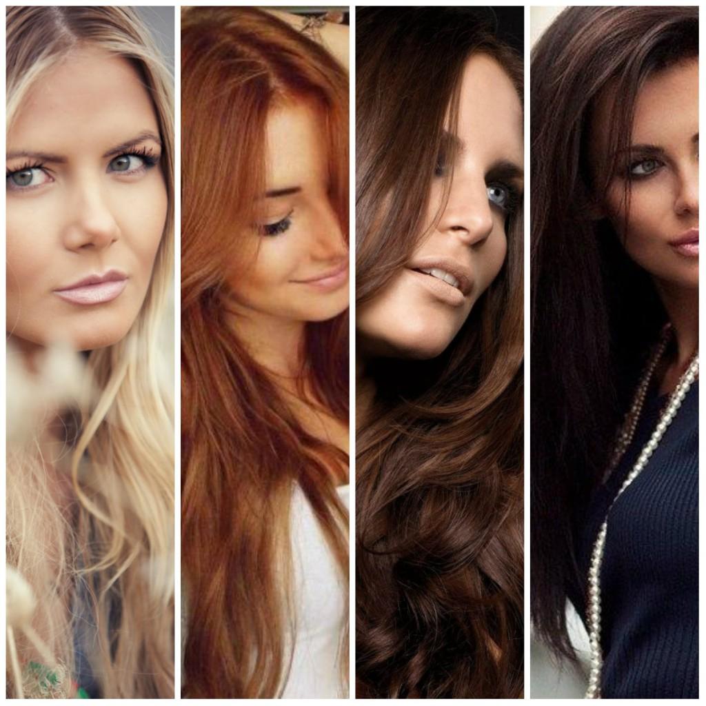 Различные оттенки волос