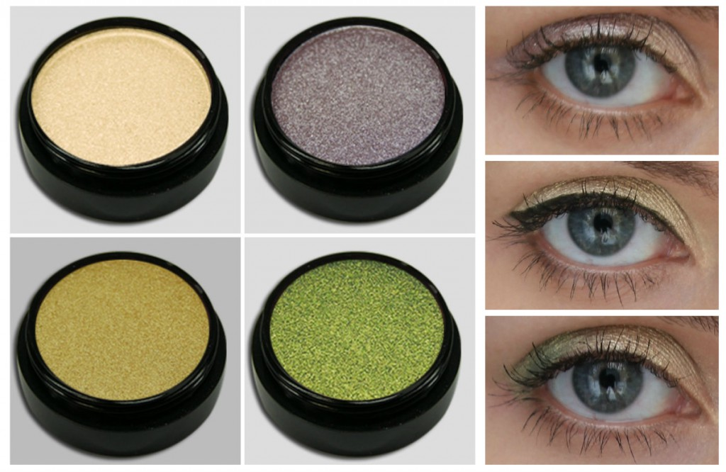 Разные тени для серых глаз
