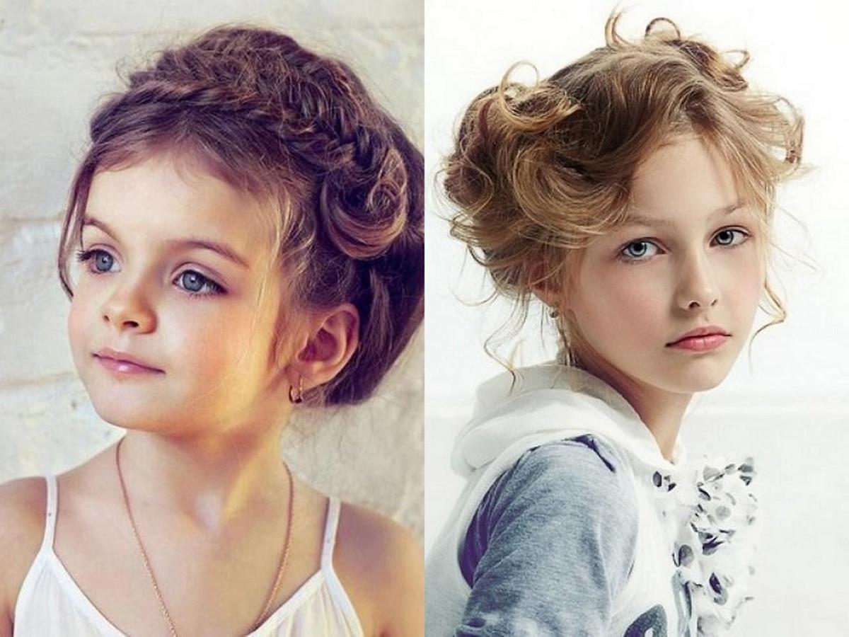 Легкая прическа для девочки на праздник на средние волосы