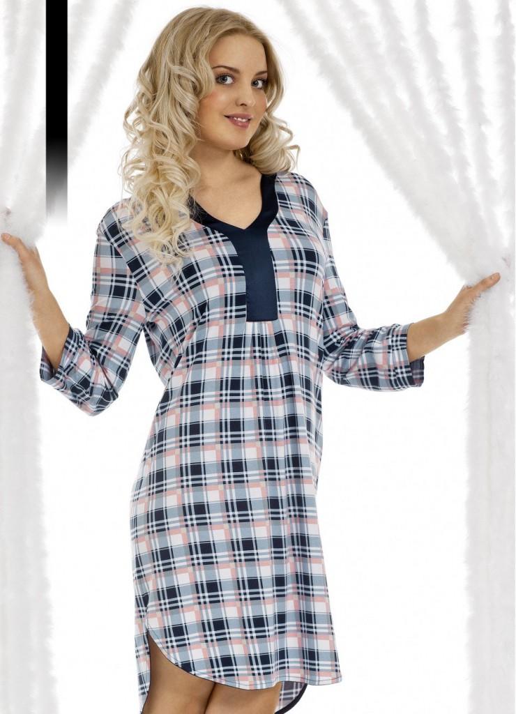 Модное домашнее платье в клетку