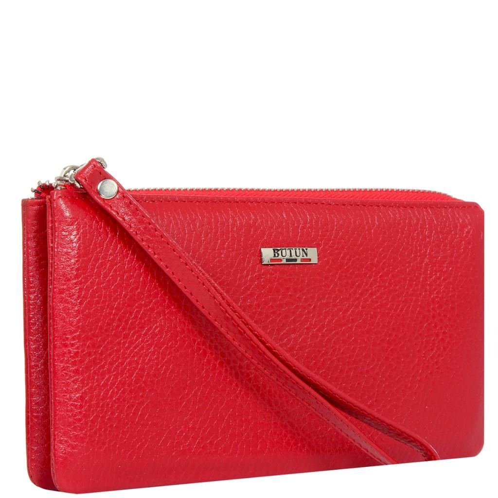 Красный модный кошелек