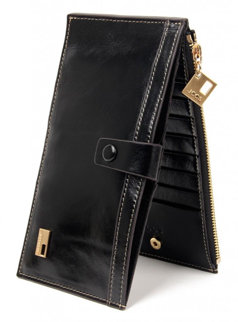 Черный модный кошелек