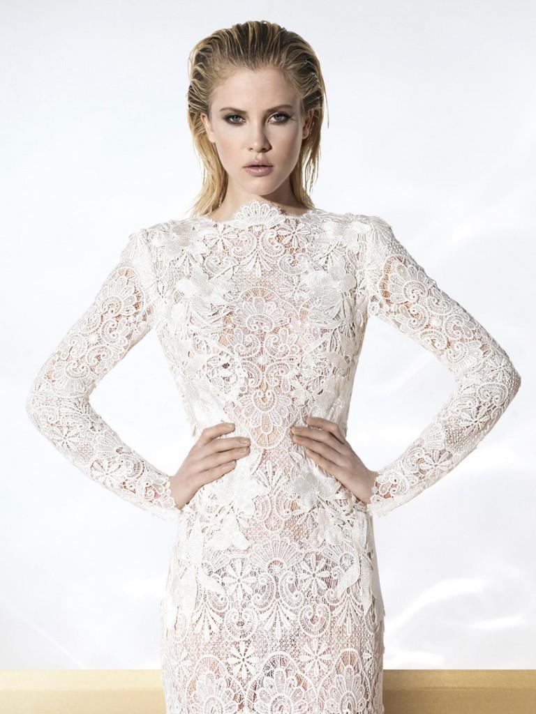 Белое кружевное платье как сшить фото 778