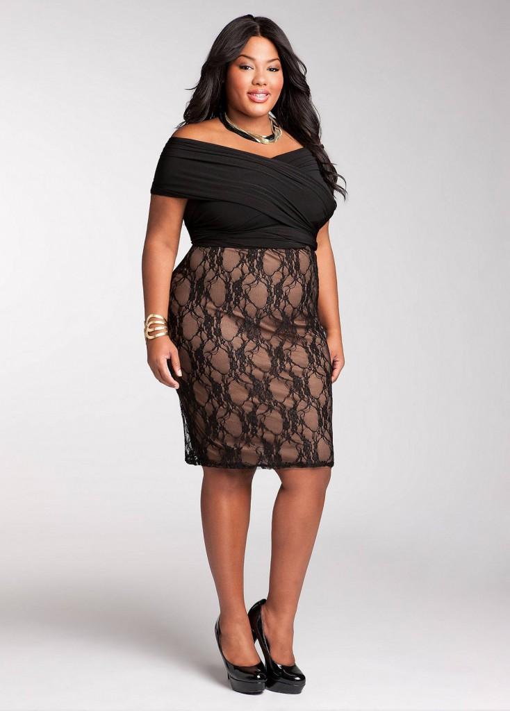 Черные гипюровые платья для полных дам
