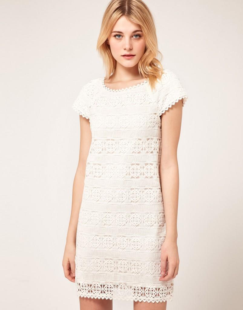 Белое кружевное платье как сшить фото 1000