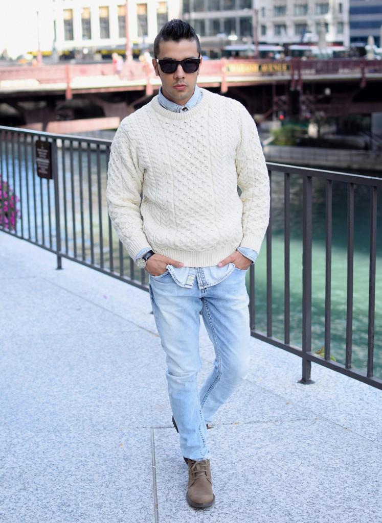 Зауженные мужские джинсы