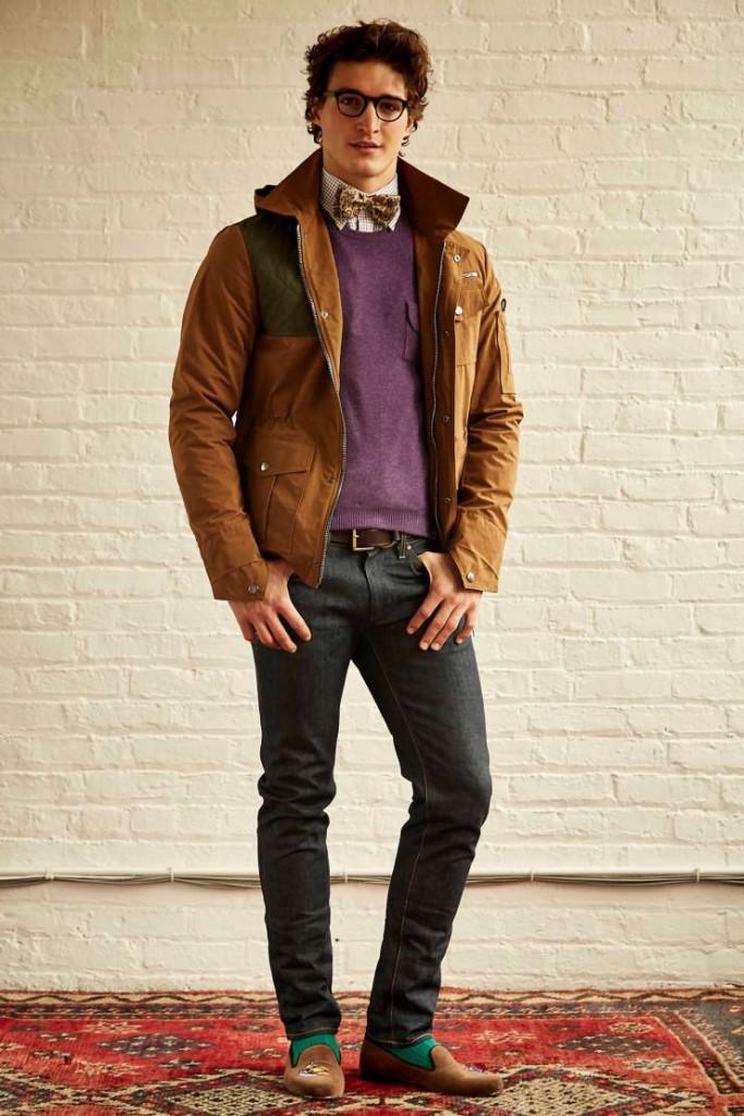 Стильные мужские джинсы с мокасинами