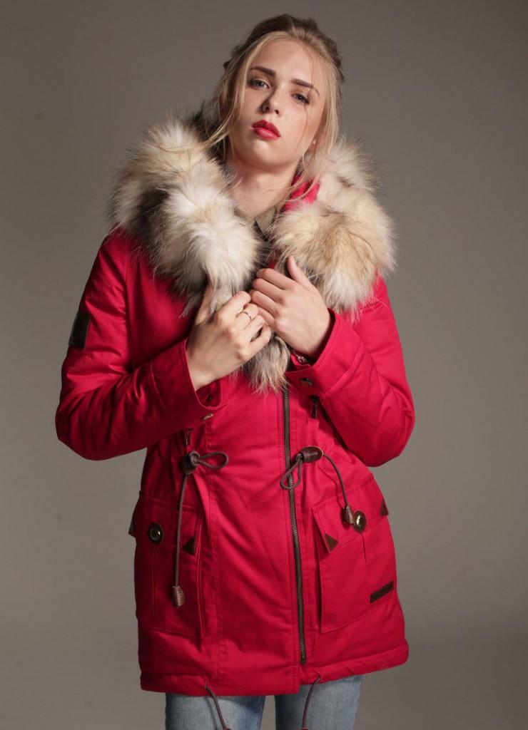 Модная куртка-парка с мехом