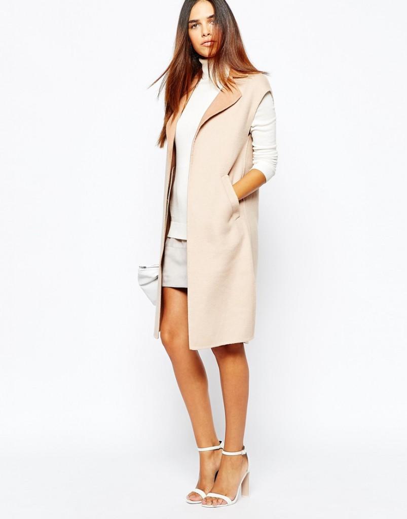 Модное пальто без рукавов