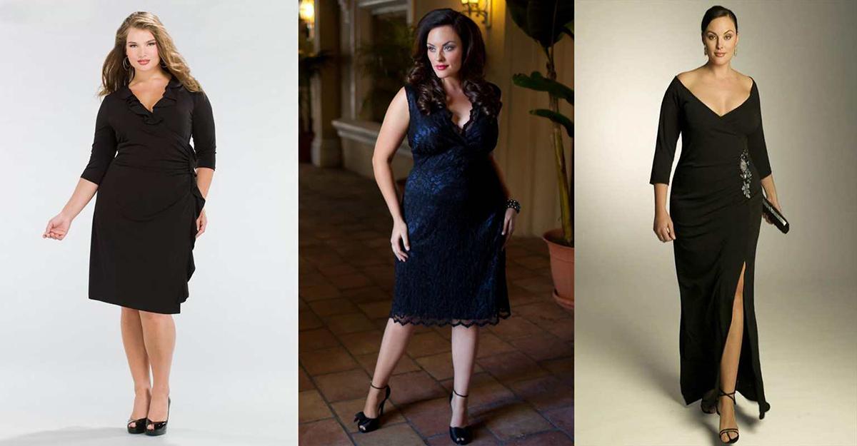 Красивые фасоны платьев на полных женщин фото