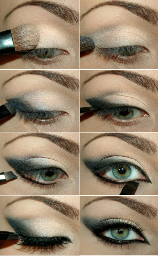 Фото урок вечернего макияжа для зеленых глаз