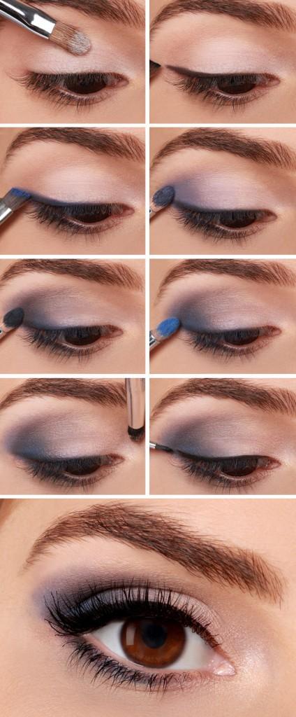 Фото урок дневного макияжа для карих глаз