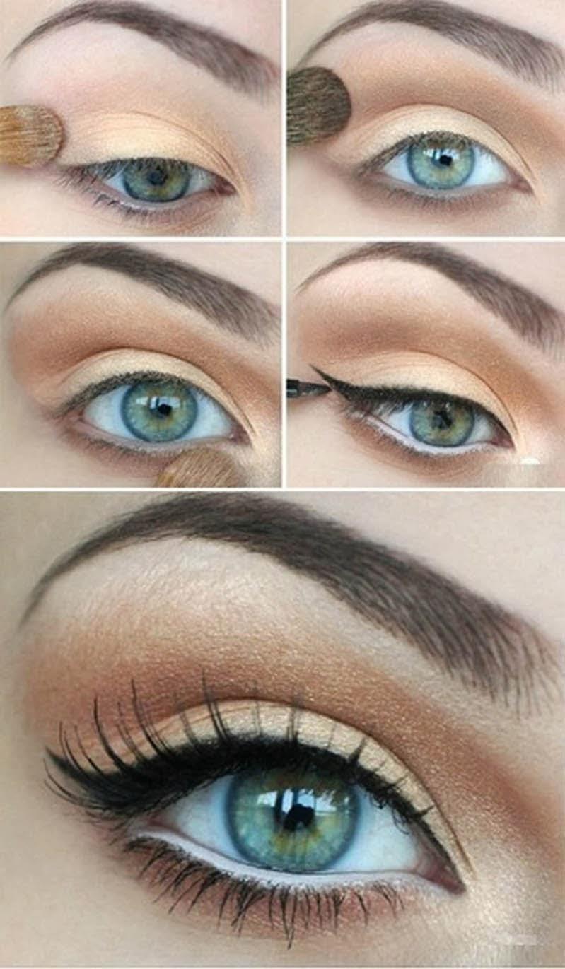 Вечерний макияж для голубых глаз пошагово, фото 26