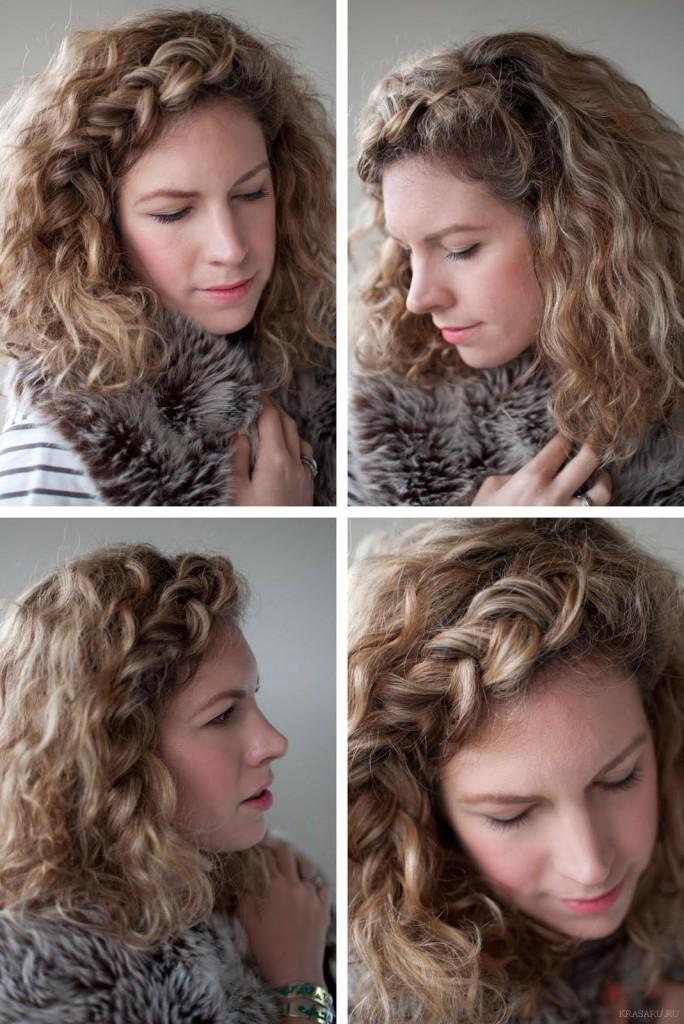 Плетение волнистых волос