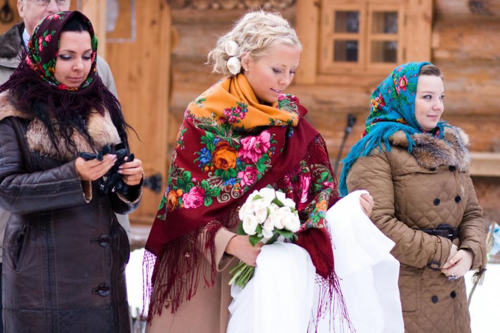 Русский стиль на свадьбе