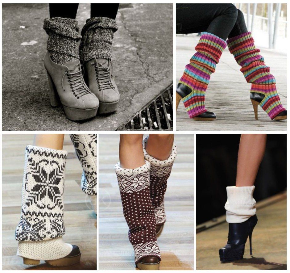 Гетры с разной обувью