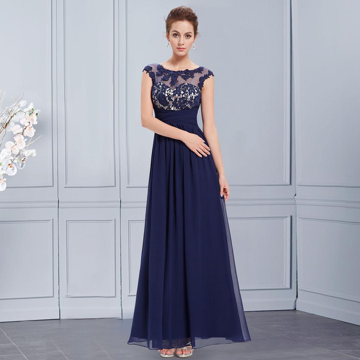 Вечерние платья длинные фото синие