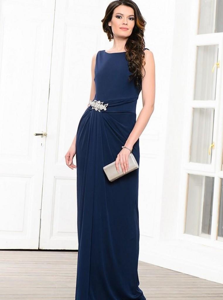 сине-фиолетовое платье