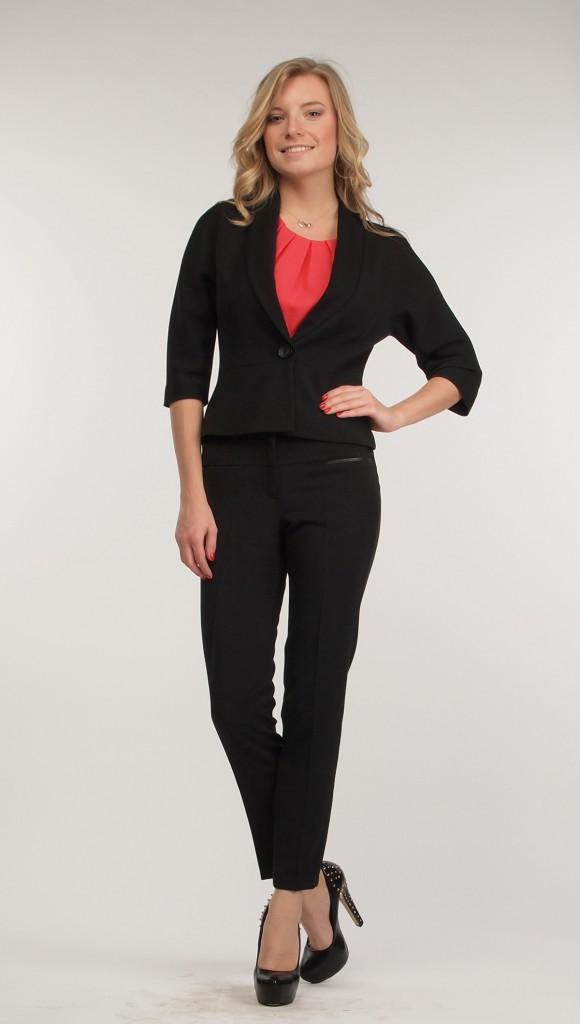 Узкие женские черные брюки