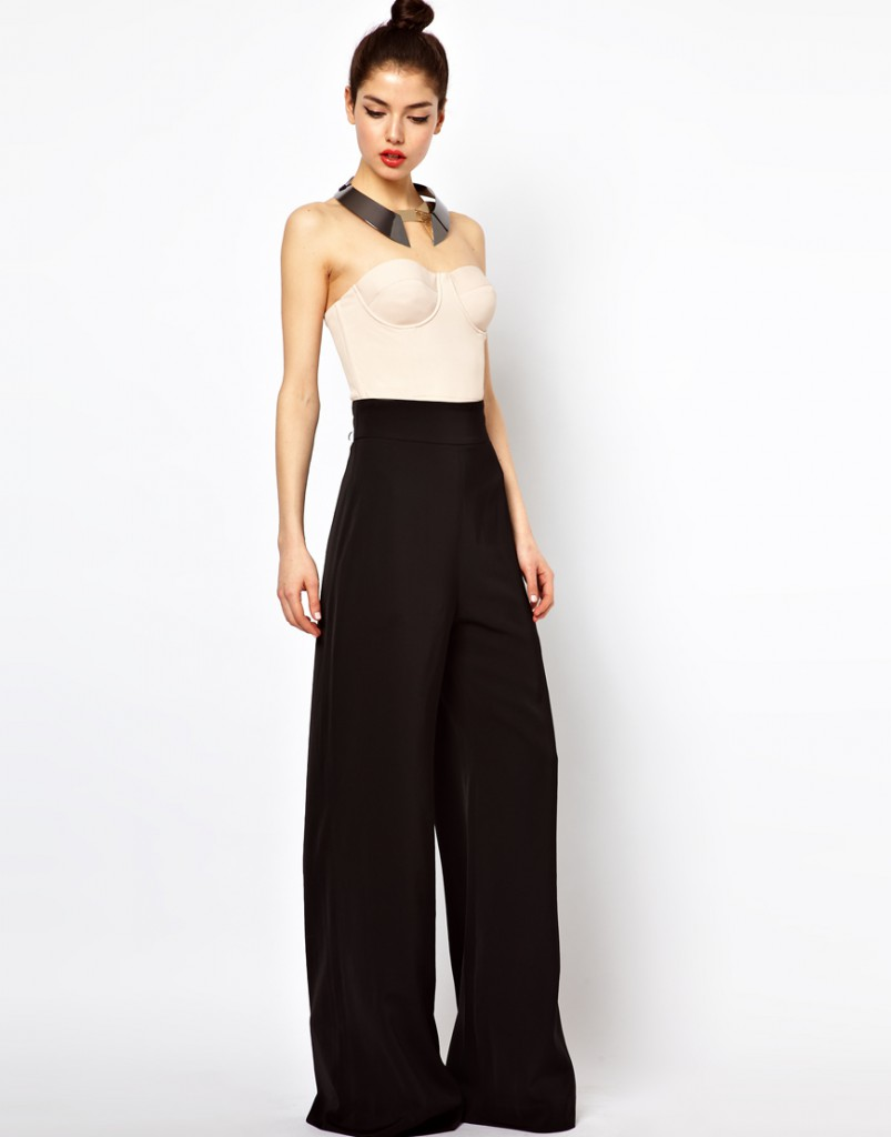Женские черные брюки клеш