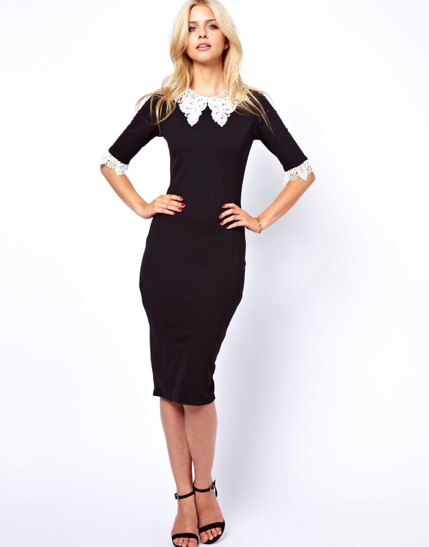 Платье с воротником фото 2016