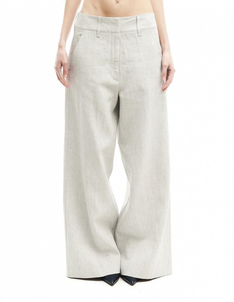 Длинные брюки из льна