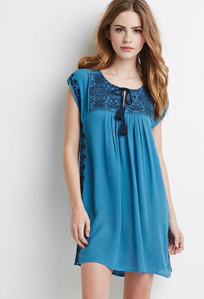Синее платье балахон