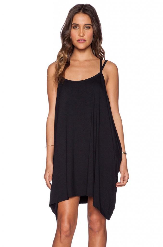 Шифоновое черное платье балахон