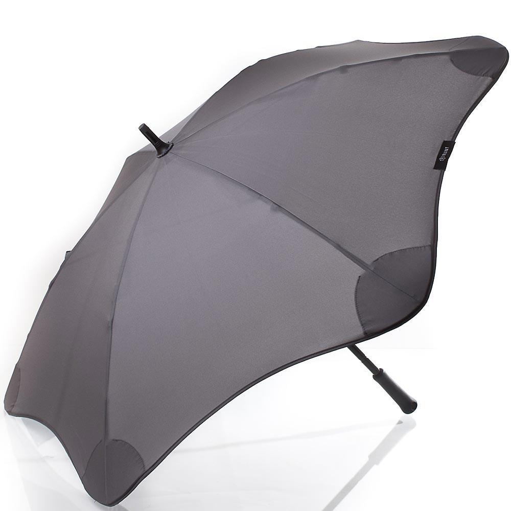 Механический серый мужской зонт
