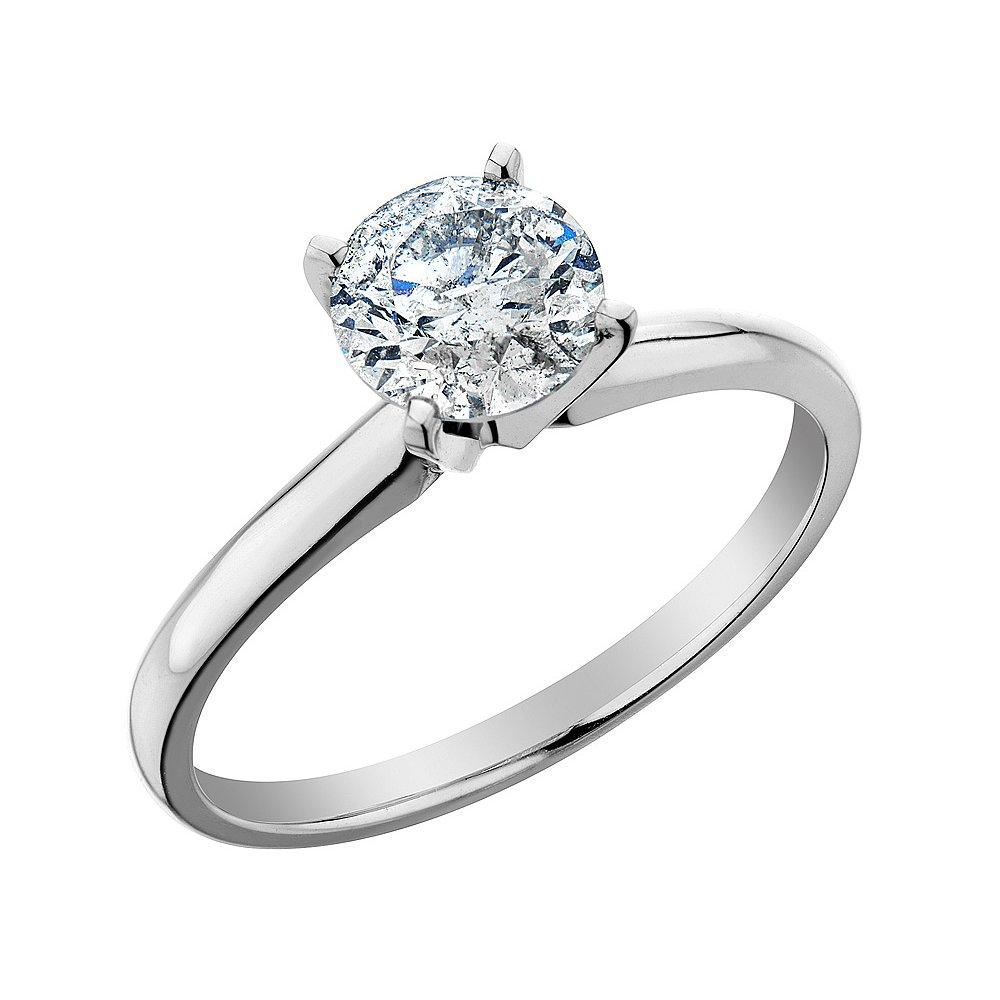 Красивое обручальное кольцо с большим бриллиантом