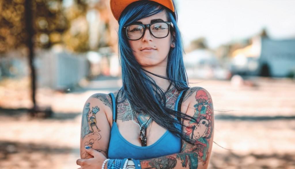 Яркие женские татуировки