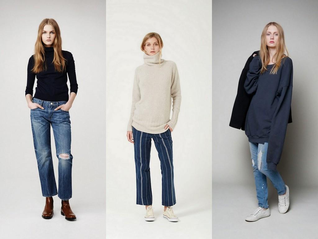 Стильные женские уличные образы с джинсами