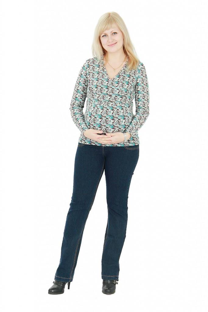 Модные темные джинсы для беременных женщин