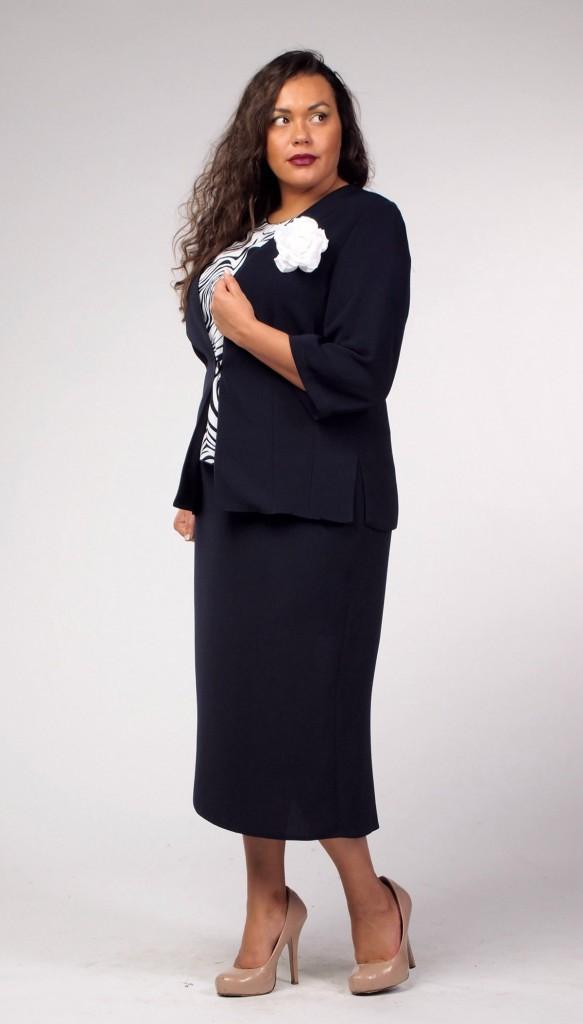 Женский костюм для полных женщин