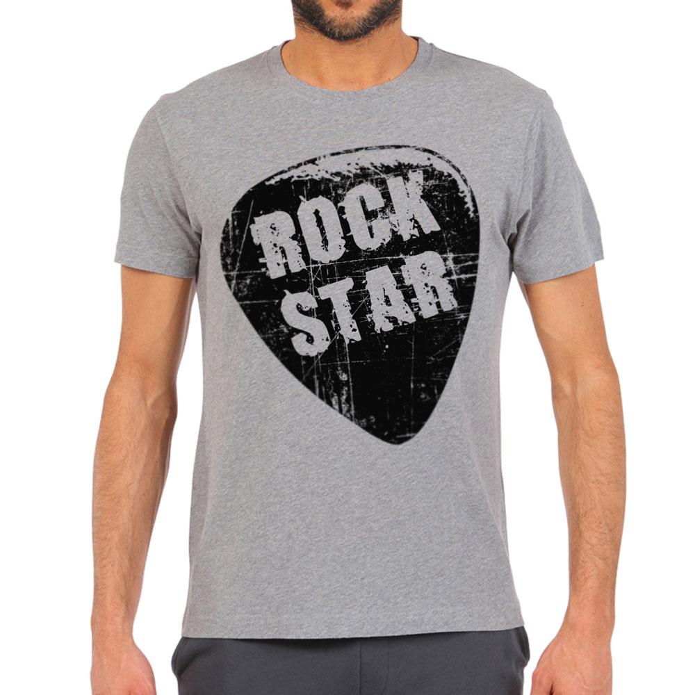 Модная мужская серая футболка