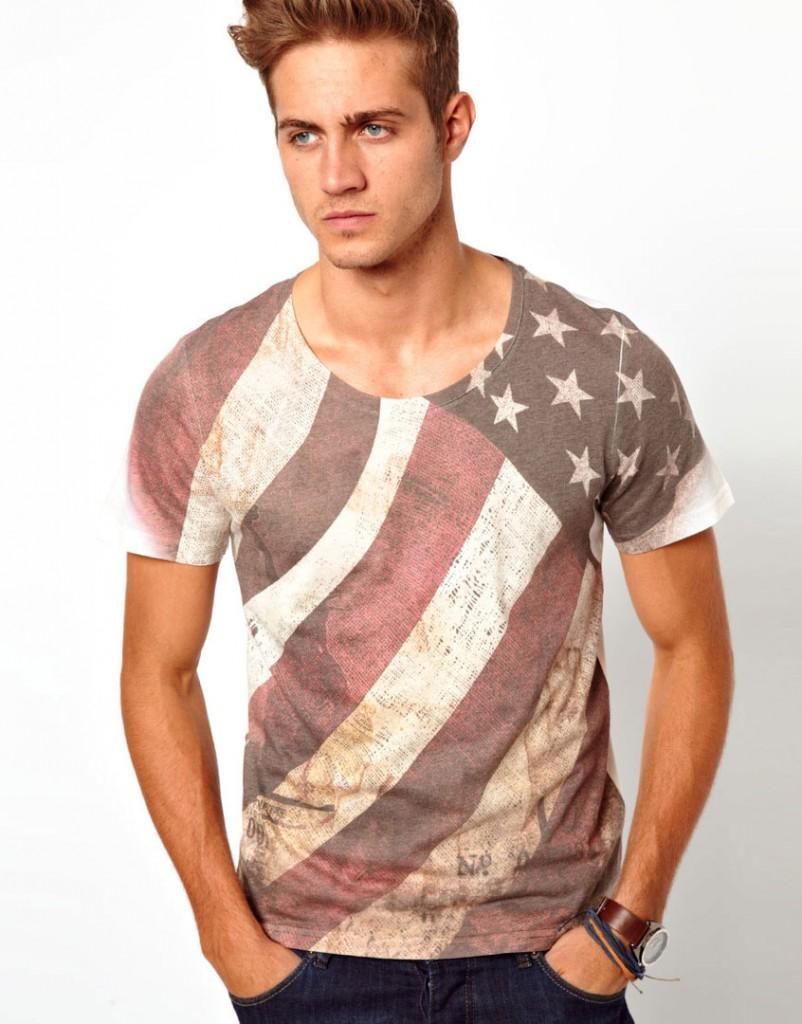 Модная мужская футболка с флагом