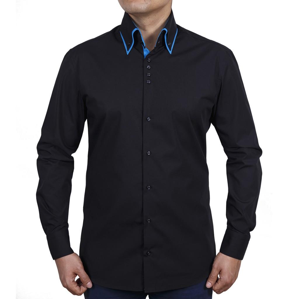 Модная мужская черная рубашка